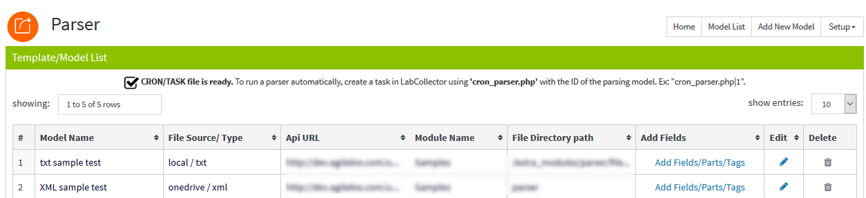 Parser - LabCollector