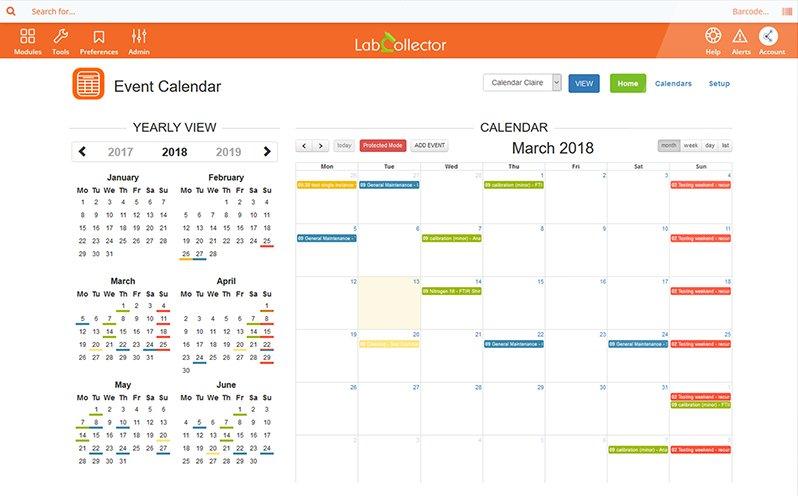 LIMS Event Calendar AddOn